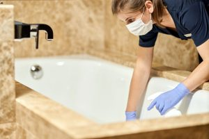 Cottage Team Holiday Housekeeping, using COVID secure cleaning processes